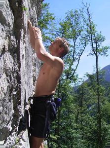 Klettern südlich von München: Kochel