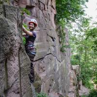 Klettern lernen am Riesenstein in Heidelberg